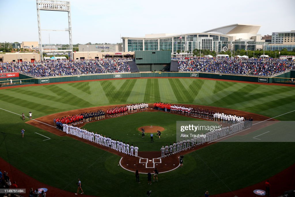 A general view of TD Ameritrade Park during the pre-game