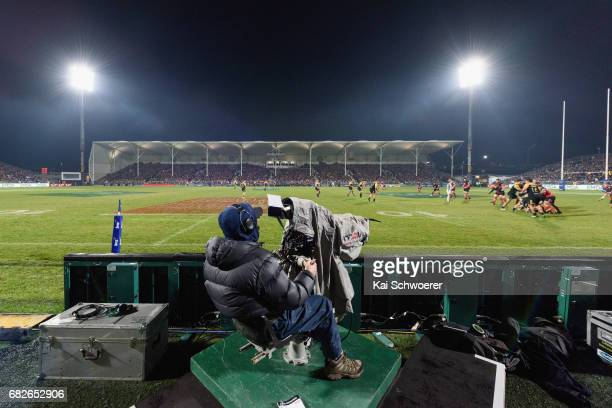 General view of AMI Stadium during the round 12 Super Rugby match between the Crusaders and the Hurricanes at AMI Stadium on May 13 2017 in...
