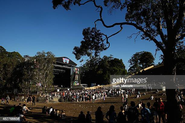 General view of amphitheatre stage at Splendour In the Grass 2014 on July 27, 2014 in Byron Bay, Australia.