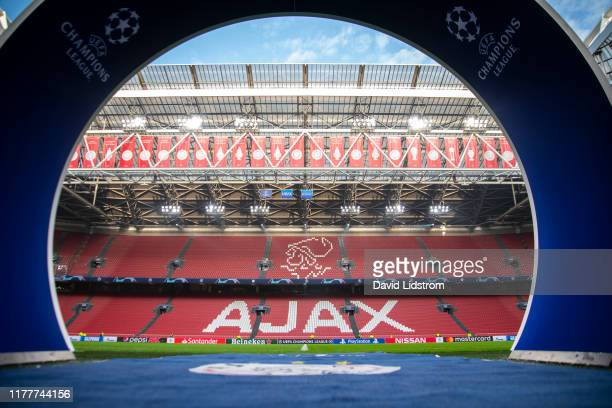 General view of Amsterdam Arena ahead of the UEFA Champions League group H match between AFC Ajax and Chelsea FC at Amsterdam Arena on October 23...