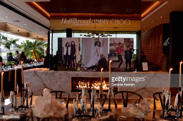 A general view of amtosphere at The Hollywood Reporter and Jimmy Choo Power Stylists Dinner on March 20 2018 in Los Angeles California