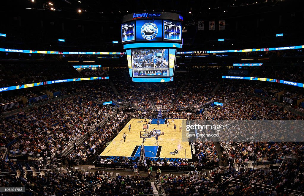 A general view of Amway Arena during the game between the Minnesota Timberwolves and the Orlando Magic at Amway Arena on November 3, 2010 in Orlando, Florida.