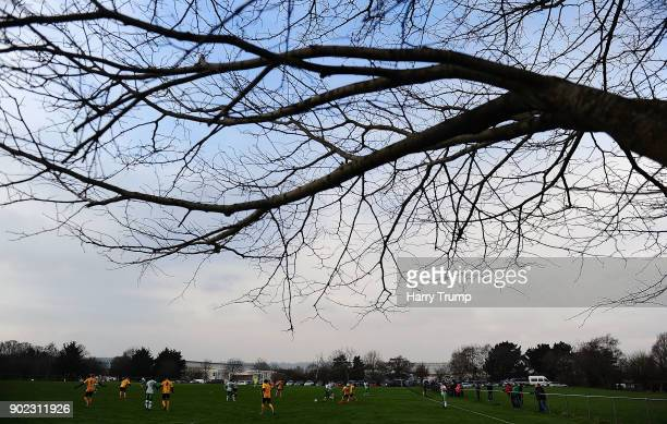 General view of an Academy match taking place near Huish Park during The Emirates FA Cup Third Round match between Yeovil Town and Bradford City at...