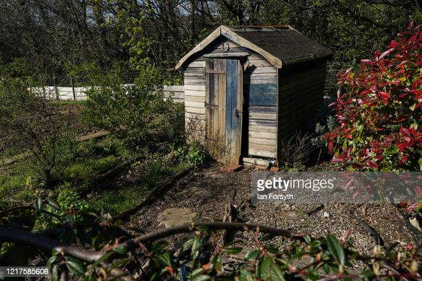 General view of an allotment in Saltburn on April 08, 2020 in Saltburn By The Sea, United Kingdom. Ministers have confirmed that under Government...