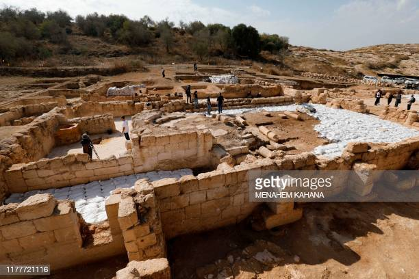 A general view of an ancient church in the Israeli town of Bet Shemesh on October 23 2019 A magnificent 1500yearold church decorated with spectacular...