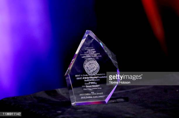 A general view of an award at the 16th annual 'Gathering for Cure' black tie awards gala of Brain Mapping Foundation on March 16 2019 in Los Angeles...