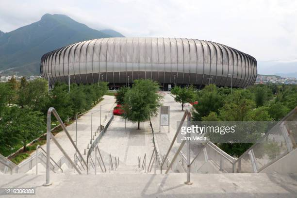 General view of an empty BBVA Stadium during the quarantine period as a preventive measure against the spread of coronavirus on April 1 2020 in...
