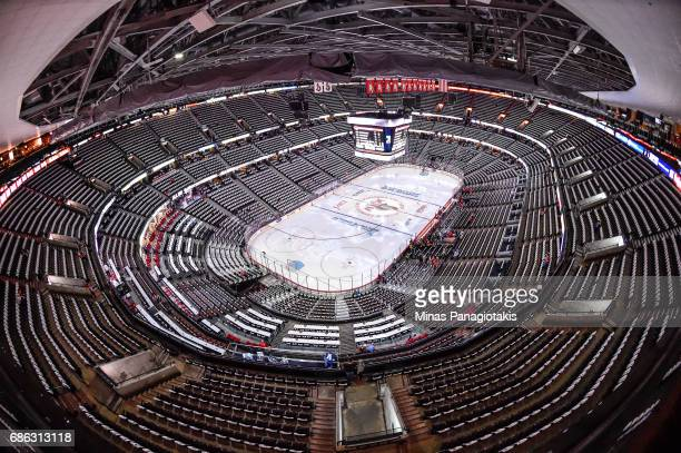 General view of an empty Canadian Tire Centre prior to Game Four of the Eastern Conference Final during the 2017 NHL Stanley Cup Playoffs between the...