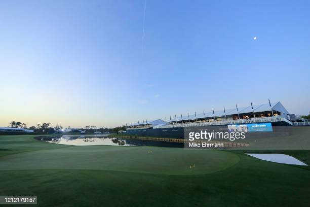 General view of an empty course is seen after the cancellation of the The PLAYERS Championship and three consecutive PGA Tour events due to the...