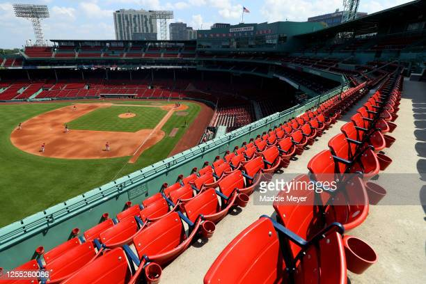 General view of an empty Fenway Park during Red Sox Summer Workouts at Fenway Park on July 09, 2020 in Boston, Massachusetts.