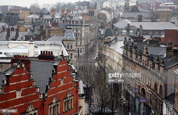 A general view of an empty high street in the town centre of Newport on April 21 2008 in Wales A poll by researchers Fitch has revealed 10 subprime...
