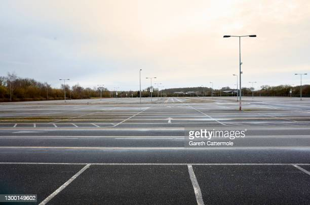 General view of an empty passenger car park at Stansted Airport on February 03, 2021 in Stansted, United Kingdom. British leaders have reimposed...