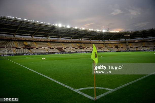 General view of an empty Stadio Olimpico di Torino during the Serie A match between Torino FC and Hellas Verona at Stadio Olimpico di Torino on July...