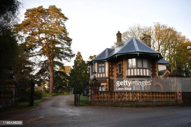 General view of an entrance to the Sandringham estate near King's Avenue ahead of Prince Harry, Duke of Sussex arriving to meet with Queen Elizabeth...