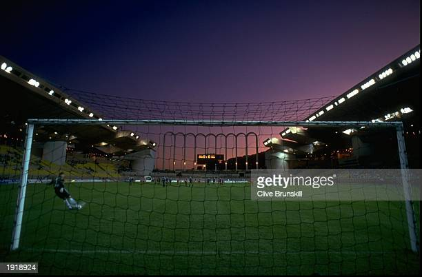 General view of an evening football match at the Louis II Stadium in Monte Carlo Monaco Mandatory Credit Clive Brunskill/Allsport
