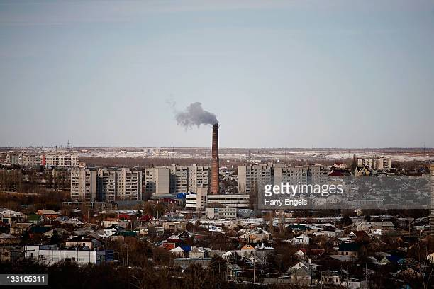 General view of an industrial area of the city on November 16, 2011 in Volgograd, Russia. Volgograd is one of thirteen proposed host cities as Russia...