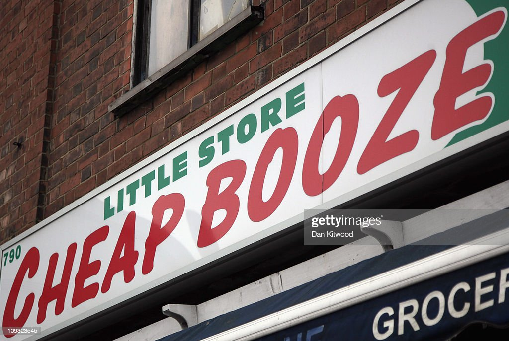 A general view of an Off Licence named 'Little Store Cheap Booze', in Thornton Heath on February 21, 2011 in London, England. Doctors have warned that inadequate regulations on alcohol may cost the lives of around 250,000 people in England and Wales over the next 20 years. A minimum price of 50p per unit is urgently needed, according to leading liver disease specialists.
