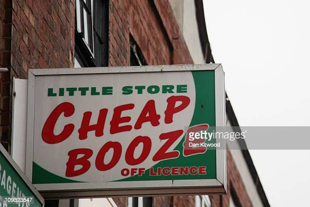 A general view of an Off Licence named 'Little Store Cheap Booze' in Thornton Heath on February 21 2011 in London England Doctors have warned that...