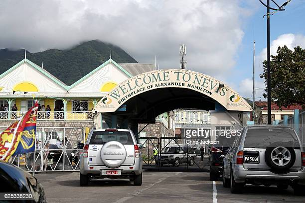General view of an official entrance to the Island of Nevis on the fourth day of an official visit on November 23 2016 in Saint Kitts and Nevis...