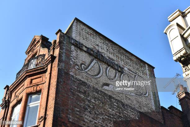 A general view of an old ghost sign for Boots the Chemist in Camden Town on May 12 2019 in London England