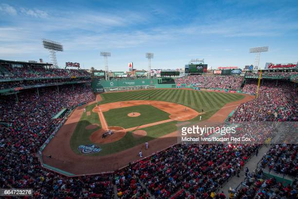 General view of an opening day game between the Boston Red Sox and the Pittsburgh Pirates at Fenway Park on April 3 2017 in Boston Massachusetts