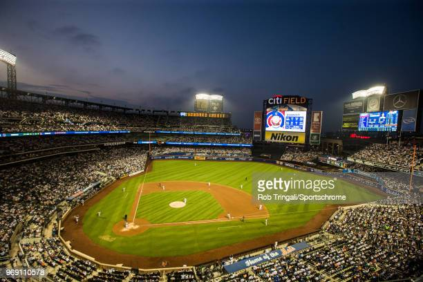 A general view of an overall of Citi Field at dusk during the game between the New York Mets and the Chicago Cubs at Citi Field on Friday June 1 2018...