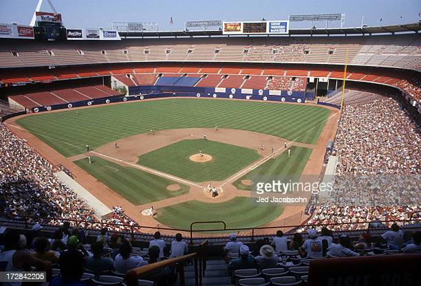General view of Anaheim Stadium during the Baltimore Orioles and California Angels game on June 3 1992 at Anaheim Stadium in Anaheim California