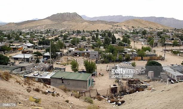 General view of Anapra neighborhood one of the poorest in Ciudad Juarez Chihuahua which was visited 12 October 2003 by US congresspersons Silvestre...