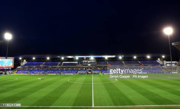 A general view of Andrew's Trillion Trophy Stadium ahead of the match during the Sky Bet Championship match at St Andrew's Trillion Trophy Stadium...
