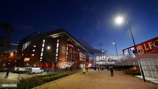 General view of Anfield before the UEFA Champions League group E match between Liverpool FC and NK Maribor at Anfield on November 1 2017 in Liverpool...