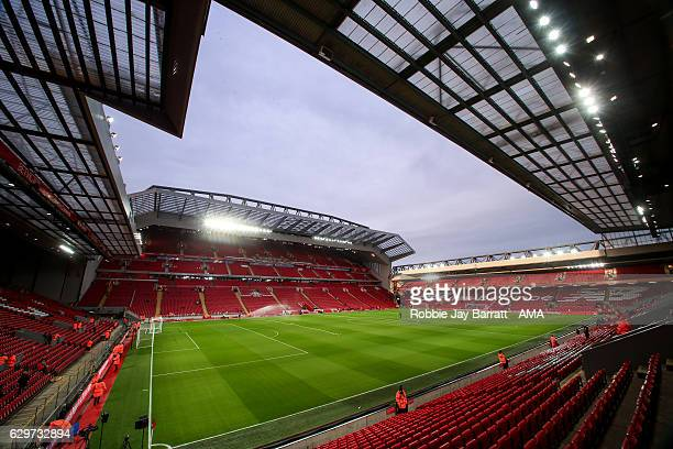 A general view of Anfield Stadium the home of Liverpool during the Premier League match between Liverpool and West Ham United at Anfield on December...
