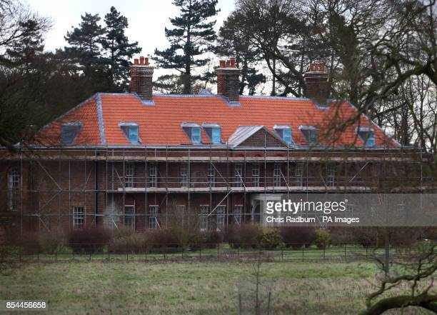General view of Anmer Hall as work continues on the royal country retreat gifted to the Duke and Duchess of Cambridge on Queen Elizabeth II's...