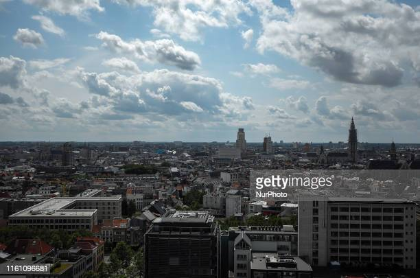 General view of Antwerp, in the region of Flanders, Belgium on August 7, 2019.