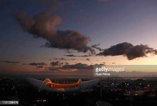 General view of ANZ Stadium at sunrise on May 16, 2019 in Sydney, Australia.