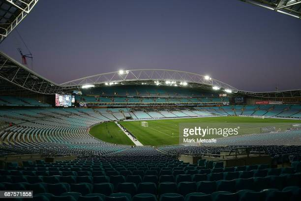 A general view of ANZ Stadium before the International Friendly match between Sydney FC and Liverpool FC at ANZ Stadium on May 24 2017 in Sydney...