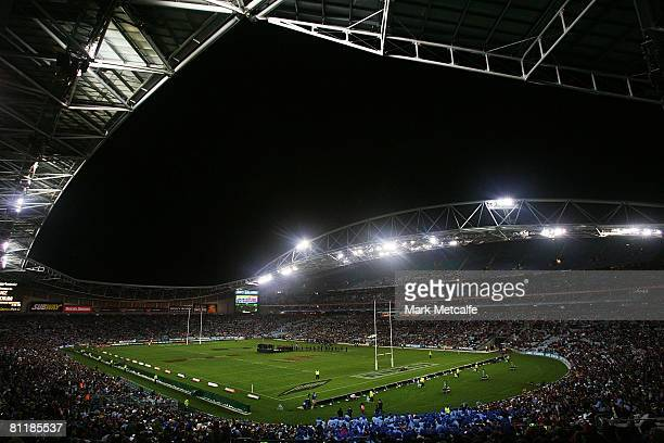 A general view of ANZ Stadium before the start of match one of the ARL State of Origin series between the New South Wales Blues and the Queensland...