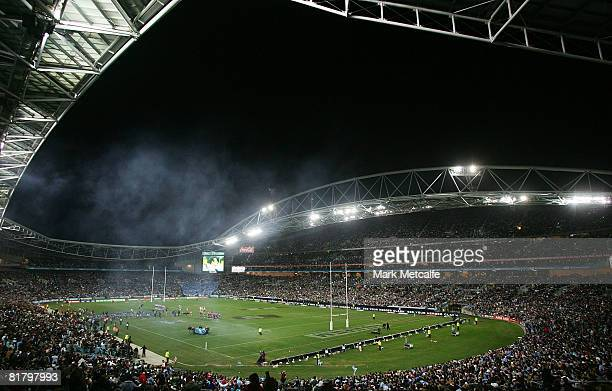 General view of ANZ Stadium during match three of the ARL State of Origin series between the New South Wales Blues and the Queensland Maroons at ANZ...