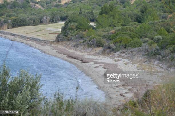 General view of Anzac Cove is seen on the Gallipoli peninsula in Canakkale, Turkey on November 4, 2017. ''Turkey is currently ranked sixth in the...
