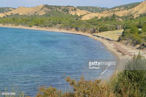 A general view of Anzac Cove is seen on the Gallipoli peninsula in Canakkale Turkey on November 4 2017 ''Turkey is currently ranked sixth in the...