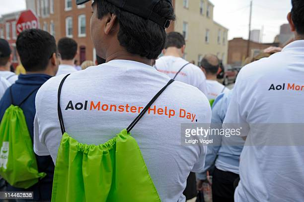 General view of AOL and advertisingcom staff before Baltimore Mayor Stephanie RawlingsBlake kicks off AOL's 2nd Annual Monster Help Day During A...