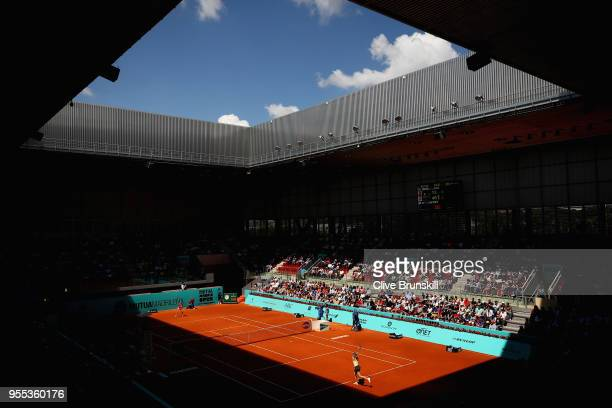 A general view of Arantxa Sanchez Vicario show court as Maria Sharapova of Russia plays against Mihaela Buzarnescu of Romania in their first round...