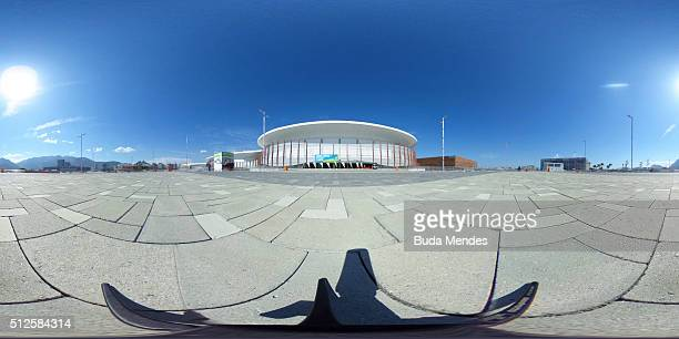 General view of Arena Carioca 1 during the International Wheelchair Rugby Championship Aquece Rio Test Event for the Rio 2016 Paralympics on February...