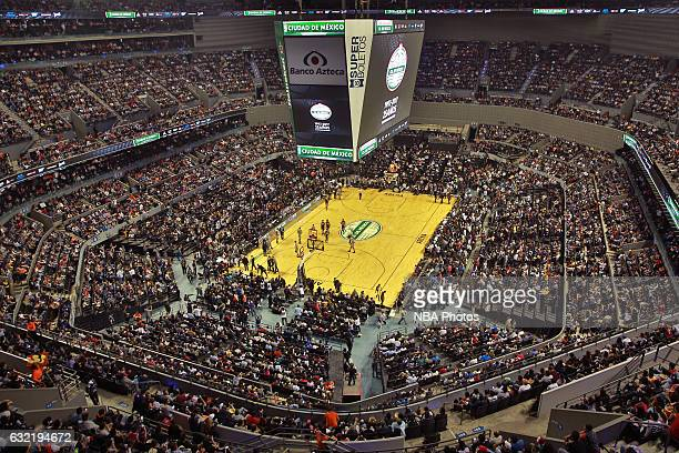 A general view of Arena Ciudad de Mexico before the San Antonio Spurs game against the Phoenix Suns as part of NBA Global Games on January 14 2017 in...