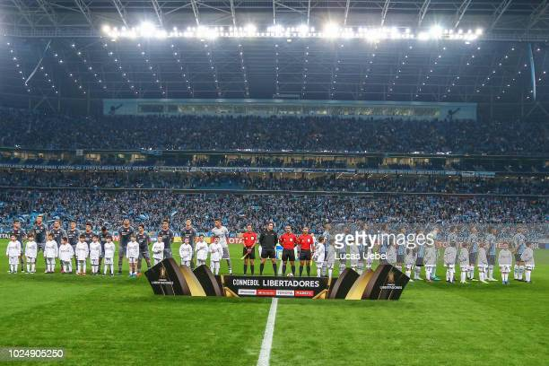General view of Arena do Gremio before the match between Gremio and Estudiantes part of Copa Conmebol Libertadores 2018 at Arena do Gremio on August...