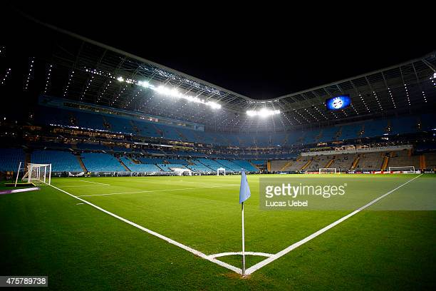 General view of Arena do Gremio before the match Gremio v Corinthians as part of Brasileirao Series A 2015 at Arena do Gremio on June 03 2015 in...