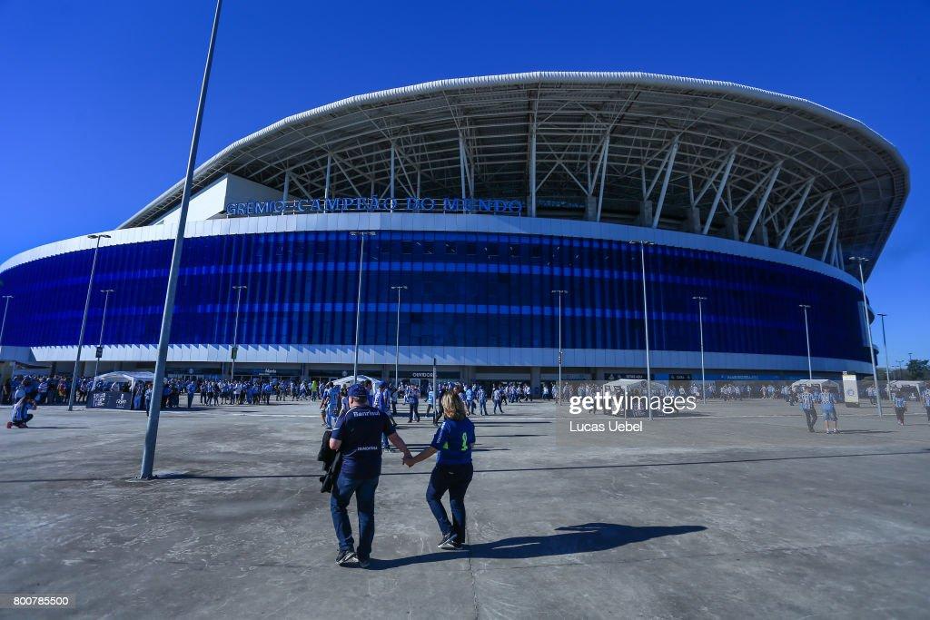 General view of Arena do Gremio before the match Gremio v Corinthians as part of Brasileirao Series A 2017, at Arena do Gremio on June 25, 2017, in Porto Alegre, Brazil.