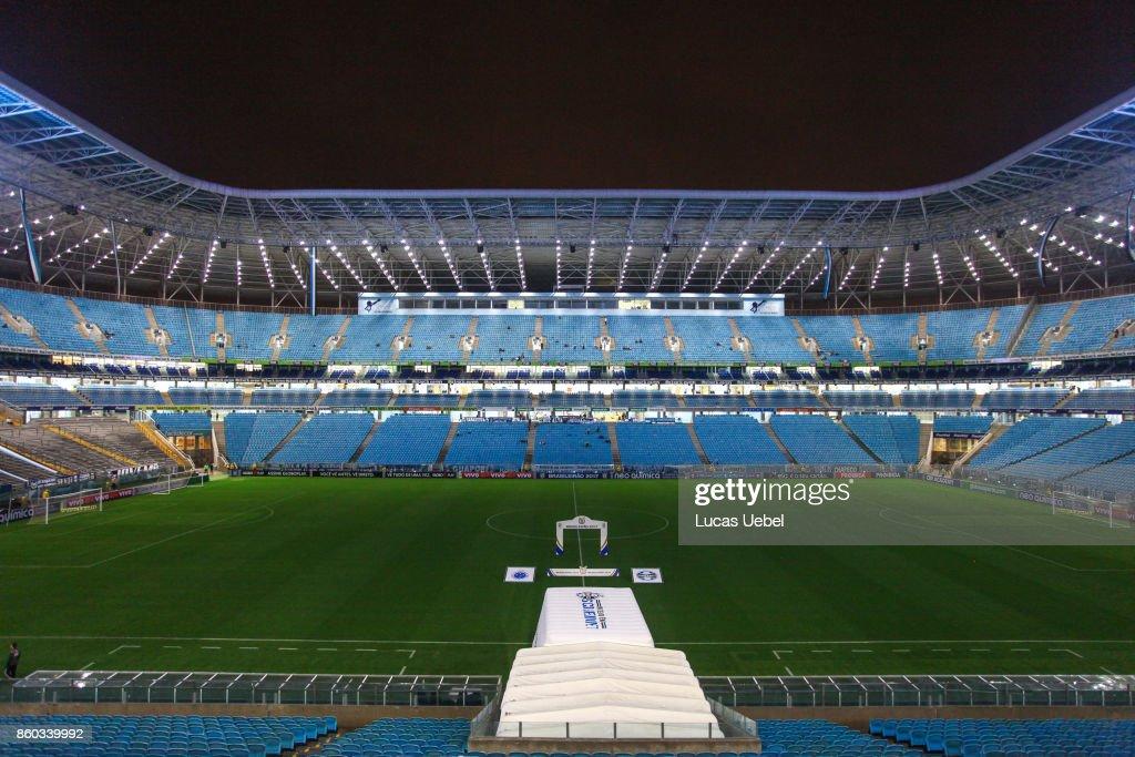 General view of Arena do Gremio before the match Gremio v Cruzeiro as part of Brasileirao Series A 2017, at Arena do Gremio on October 11, 2017, in Porto Alegre, Brazil.