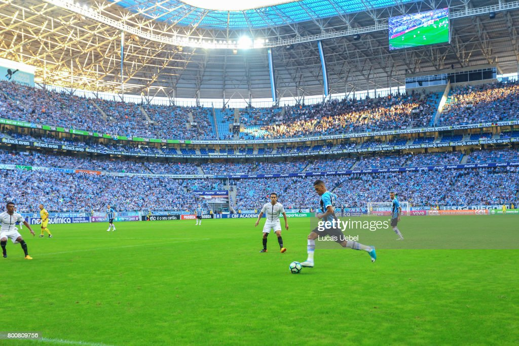 General view of Arena do Gremio during the match Gremio v Corinthians as part of Brasileirao Series A 2017, at Arena do Gremio on June 25, 2017, in Porto Alegre, Brazil.