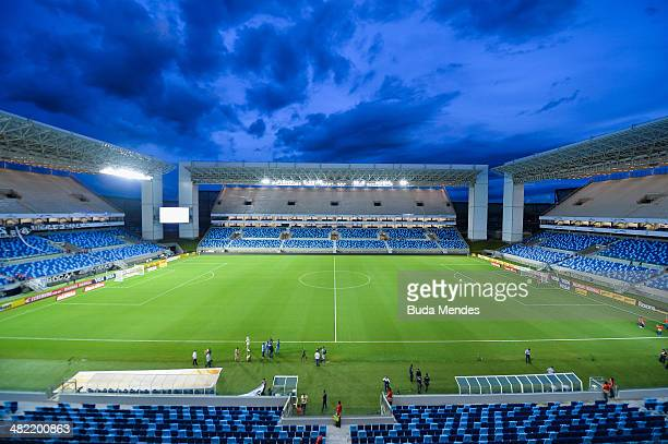 General view of Arena Pantanal Stadium before the match between Santos and Mixto as part of the Brazil Cup 2014 on April 2 2014 in Cuiaba Brazil The...