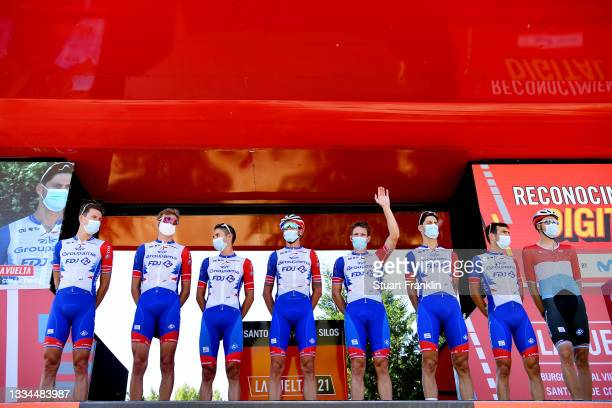 General view of Arnaud Demare of France, Kevin Geniets of Luxembourg, Jacopo Guarnieri of Italy, Olivier Le Gac of France, Tobias Ludvigsson of...